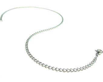 "24"" Stainless Steel Chain  With Stainless Steel Lobster Claw Clasp"