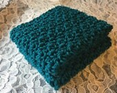 Meemah's Dish Cloth Set of 2 in Teal 100% Cotton
