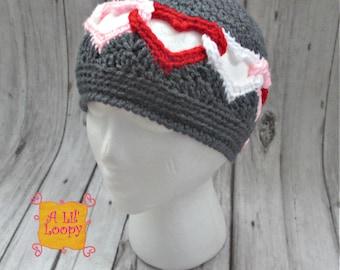 Valentine's Day Hat, Heart Hat, Be Mine Hat, Child Valentine's Day Hat, Women's Valentine's Day Hat, Valentine's Day Gift, Heart Beanie