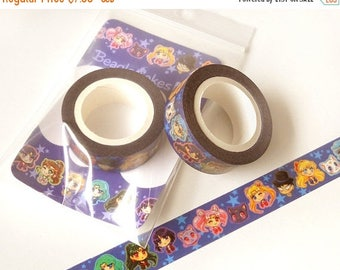 Sailor Moon Washi Tape. Kawaii Washi Tape. Anime Washi Tape. Planner Decoration. Paper Tape. Planner Supplies. Cute Washi Tape. Anime. 10M