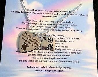 Rainbow Bridge Jewelry - Pet Memorial Jewelry - Dog Memorial - Pet Memorial - Pet loss gift - Memorial Jewelry - Pet loss gift - Pet loss