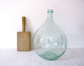 RESERVED    Demijohn 19th Century French Antique Demijohn, - antique demijohn -  french wine green bottle  - wine