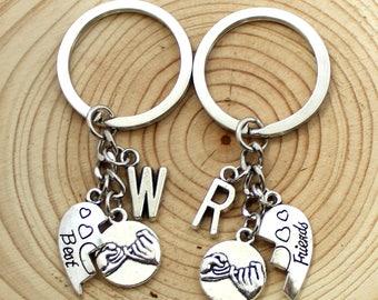pinky promise keychain,set of 2,Pinky Swear Keychain,Friendship keychain, BFF keychain Best Friends keychain