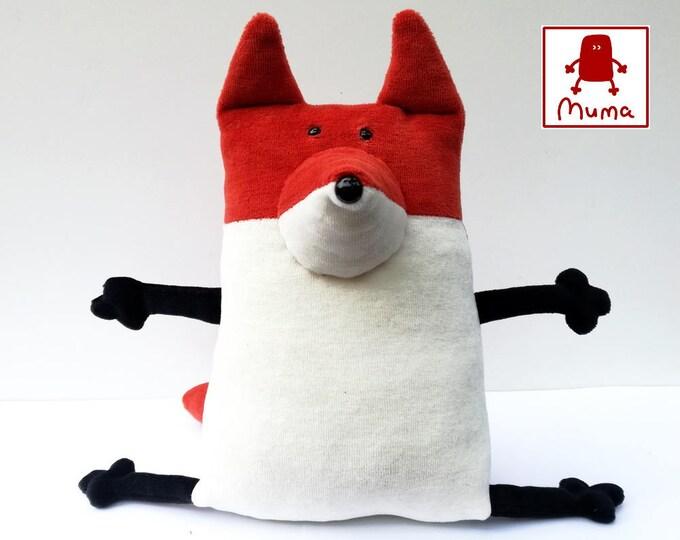 Muma Rusty Fox Plushie, Little Pocket Foxy Stuffie Toy, Funny Red Fox Pocket Plush