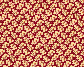 11317 Amy Butler Eternal Sunshine Pansies in Cerise color - 1 yard