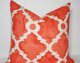 SPRING FORWARD SALE Decorative Pillow Cover Orange Geometric Pillow Cover Throw Pillow Cover Choose Size