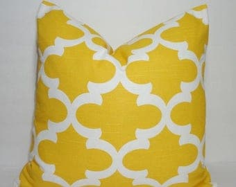 SPRING FORWARD SALE Corn Yellow Moroccan Geometric Print Pillow Covers Decorative Throw Pillow Covers All Sizes