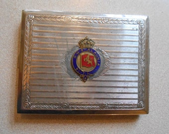 Antique RMS Alaunia Cunard Line Ship Souvenir Cigarette Case Holder HTF