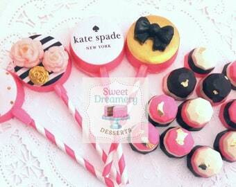 Kate Spade inspired chocolate covered combo