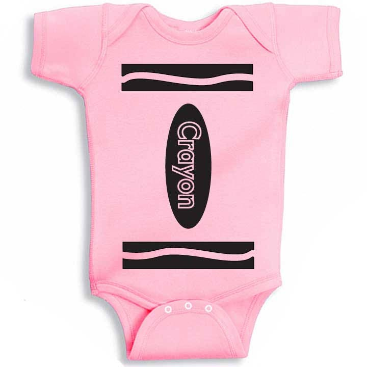 crayon one piece bodysuit halloween costume twins baby shower gift funny boy girl clothes geek nerd
