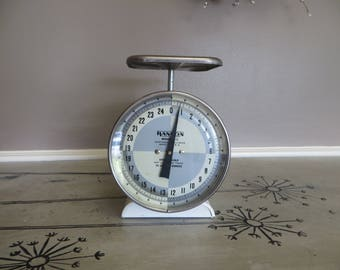 Vintage Kitchen Scale Hanson Scale White Scale Shabby Decor Farmhouse Decor Gray and White Kitchen