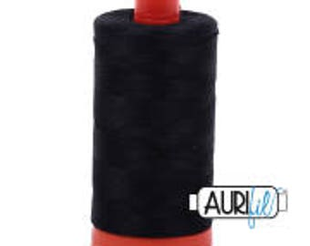 Aurifil Italian Threads-100% Cotton 40wt Piecing and Applique-Large Spool 1092 Yards-2692 Black