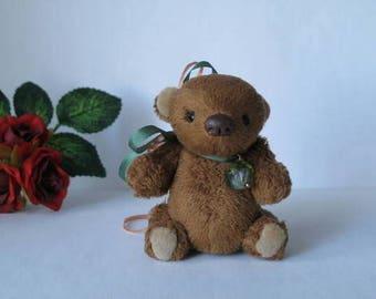 Miniature Artist Bear  Plushy  2.7 inch. available immediately by Tincu Tatiana