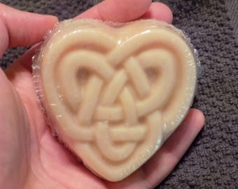Celtic Knot Heart Soap - Choose Fragrance