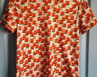 Vintage box design t-shirt, 1970's t-shirt, vintage women's t-shirt