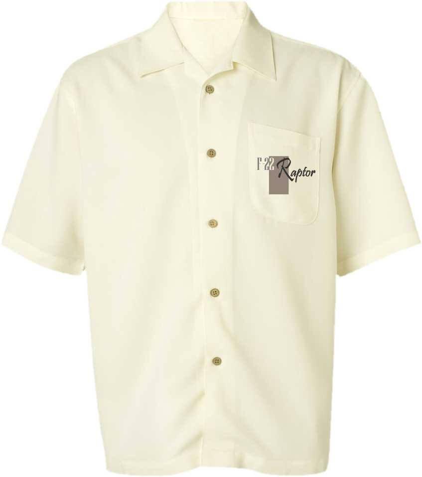 Men's Airplane Shirt-F-22 Raptor-Tactical Fighter-Men's Aviation Shirt,Ivory-Military Gift,veteran gift,men's gift, For him