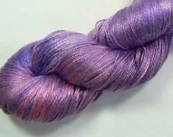 Berry Bountiful, Mulberry Silk laceweight yarn, hand dyed / hand painted, bridal, evening, summer