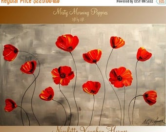 SALE ORIGINAL Large    gallery wrap canvas-Contemporary impasto    abstract floral  painting by Nicolette Vaughan Horner