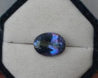ON SALE Rainbow Blue Mystic Quartz Oval Gem 16 x 12mm