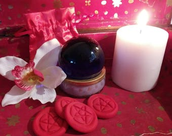 Handmade Pentacle Tokens for Rituals Spells Wishes or Divination. Free Shipping!