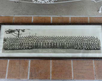 vintage Military Photograph Army framed WWII 1945 Fort Bragg N.C. 9th infantry