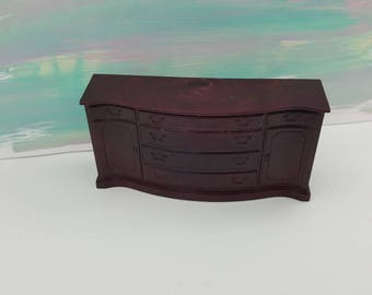 Marx Marxie Mansion Dining room Sideboard Fits 3/4 Renwal Hard Plastic Brown