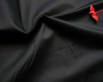 Satin cotton black-50 cm