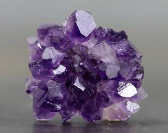 Cluster Amethyst Crystal Stalactite Rose Natural Gemstone Stalagmite Tip (CA8942)