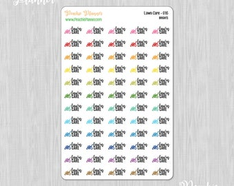 Lawn Care, Rainbow Brights - 60 Functional Planner Stickers    016