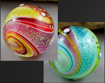 Twisted Dichroic Bead Lampwork Tutorial, 2 different ways