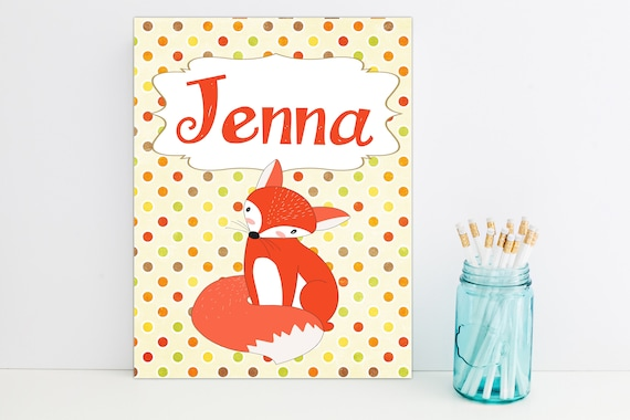 Cute Red Fox Personalized Folder, School Supplies, Back to School, Monogrammed Folder, Custom Pocket Folder