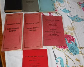 Pennsylvania Railroad code books 1945 - 1961 lot of 7 books
