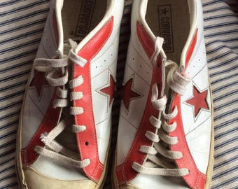 CONVERSE TENNIS SHOES vintage chuck Taylor, leather, sneakers, athletic foot wear