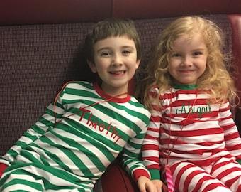 Personalized Christmas Pajamas, Family Christmas Pajamas, Monogrammed Christmas Pajamas, Personalized Pajama Set, Matching Pjs