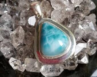 Larimar, Oval Larimar, Larimar pendant, Blue Larimar, Larimar Sterling Silver, Oval Larimar, Sterling Silver Larimar, Larimar jewelry