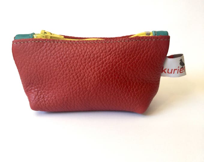 Small red coin pouch