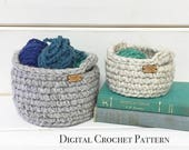 ON SALE PDF Crochet Pattern / Crochet Basket Pattern / Crochet Storage Basket with Handles / Diy Crochet Pattern / Crochet Gift Basket Patte