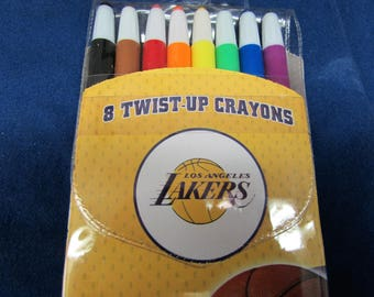 NBA Lakers Twist Up Crayons Set Of Eight Official Basketball Team