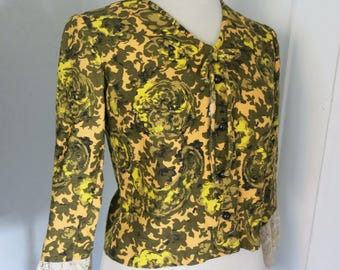 60s floral jacket Groovy