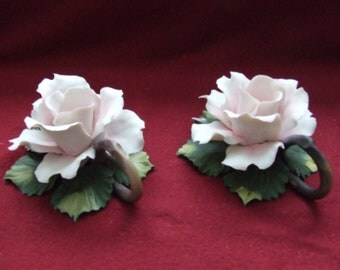 Pair of Capodimonte Candle Holders............Vintage