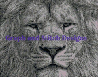 King of the Jungle Cross Stitch Chart Only