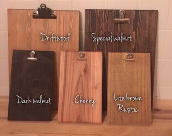 Reclaimed wood clipboard  • pallet wood clipboard