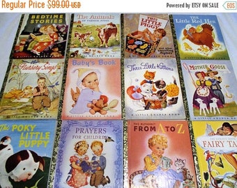 SALE 20% OFF FREE Ship~Commemorative Original First Twelve Little Golden Books Collector's Editions~Excellent, 1942-1992 50 Year Celebration