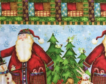 SPX Fabrics Santa's Journey 100% Cotton Fabric by the Half Metre