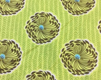Rowan fabric soul blossoms Dehli in green by the Half Metre