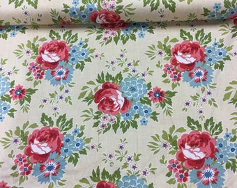 Makower for your love in beige by the Half Metre