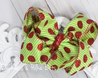 Sparkly Christmas Hair bow