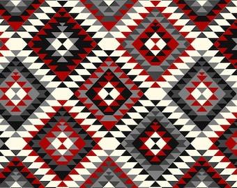 David Textiles Aztec Tribal Anti Pill Fleece Fabric by the Yard