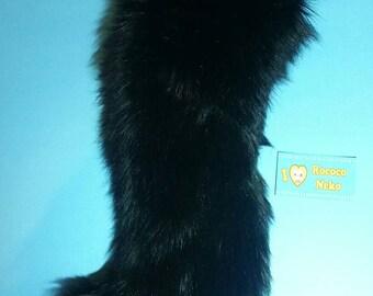 Black kitten tail
