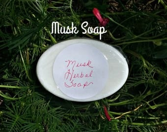 Musk Essential Oil Soap - 3oz Musk Soap - Handmade Soaps - Natural Soaps - Herbal Soaps - Elusive Wolf